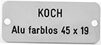 Koch – Sonnerieschild